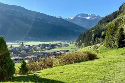 Terrassenwohnung mit Blick auf Berge