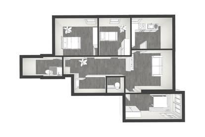 neu renovierte 4-Zimmer Wohnung zu vermieten