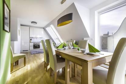 Serviced Apartment Messe Prater - 4 Zi - Dachgeschosswohnung mit Terrasse