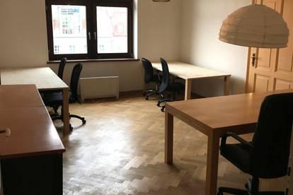 Zwei möblierte Zimmer in einem Gemeinschaftsbüro nähe Marktplatz zu vermieten