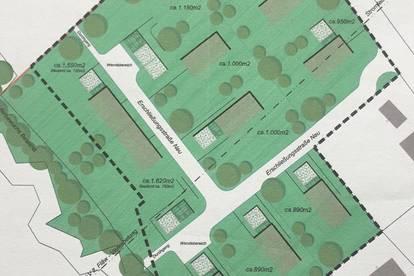 Grundstück für Ein- Mehr- oder Doppelhaus