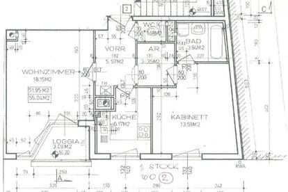 Vollmöblierte 2,5 Zimmerwohnung mit Tiefgaragenparkplatz und kleiner Loggia ab Mai 2021 zu vermieten