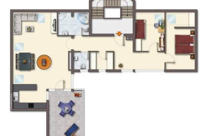 Sonnige 3 Zimmer Dachgeschosswohnung in Volders Provisionsfrei zu vermieten