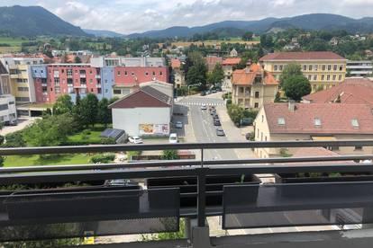 **Möbliert** Zentrale Wohnung mit großzügigem Balkon und toller Aussicht.