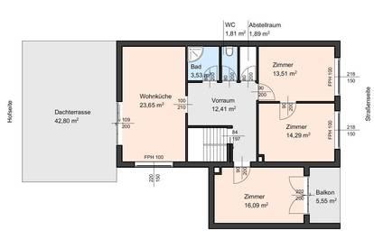 Top helle 4 Zimmer Wohnung mit großer Dachterrasse in Mönchhof!