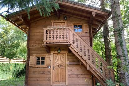 Holz Blockhaus Troadkasten Hütte - für Ski - Alm - Garten - Golfplatz - See - Selbstabbau!