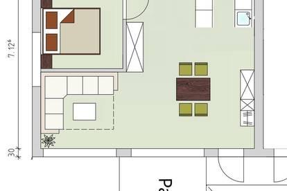 Schöne Erdgeschosswohnung in zentrumsnaher Lage in Gschurn ab 01. Jänner 2021 zu vermieten