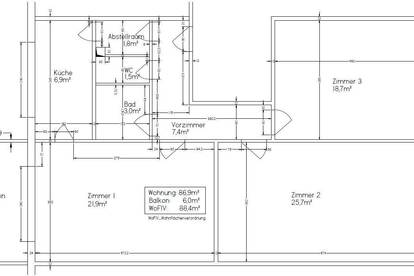 88,4m2, Generalsanierte 3 Zi-Wohnung mit Balkon im obersten Geschoß mit bester Fernsicht und Lift, sonnige Ruhelage im Innenhof, gut angebunden, Privat zu vermieten