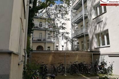 Einmalige und große Büro-Wohnung-Einheit mit hohen Räumen beim Westbahnhof! mit toller Verkehrsanbindung, nahe U3,U6! 5 Zimmer + Hofterrasse