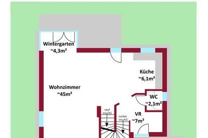 Sonnenhaus mit Garten und Terrasse - 360Grad Rundgang - Wintergarten - U2 in 15min erreichbar - Ruhelage/Grünlage