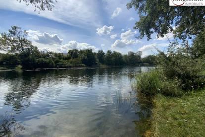 Villengrundstück in oberer Mühlwasser Lage - Naherholungsgebiet Donau-Auen - Grünblick - Ruhelage