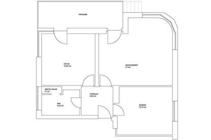 schöne große 2-Zimmer-Wohnung mit Terrasse