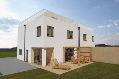 Provisionsfrei !! Doppelhaushälfte in idealer Lage mit  Dachterrasse  und Eigengarten Ziegelmassiv,