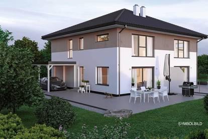 Mieders: Doppelhaus Neubau mit großem Garten
