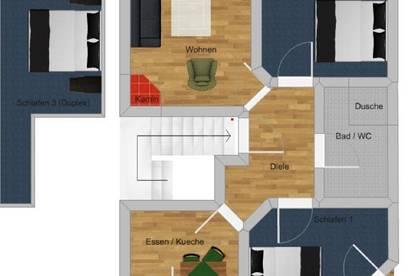 Möblierte 4 Zimmer Maisonette-Wohnung in Prägraten