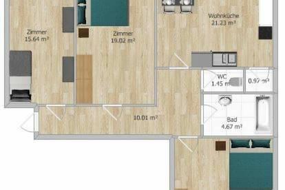 ** NEU SANIERT ** 3 Zimmer Wohnung mit BALKON, LOGGIA & neuer KÜCHE!