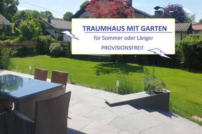 FÜR DEN SOMMER oder LÄNGER: TRAUMHAUS mit GARTEN & SAUNA in Aigen Salzburg - Nähe Schloss Aigen – PROVISIONSFREI