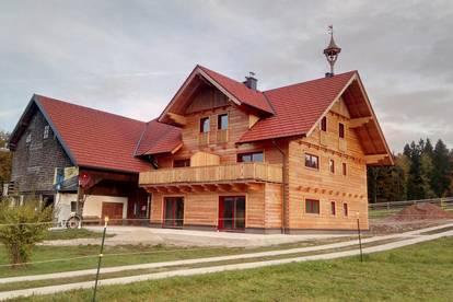 Sonniges Juwel im Massivholz-Blockhaus