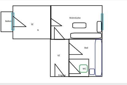 DG Wohnung mit Balkon (Genossenschaft)