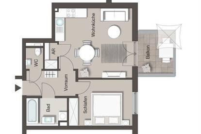Südseitige Wohnung mit Balkon – Provisionsfrei – TG-Platz optional