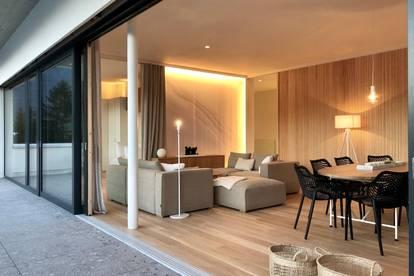 Erstbezug, zu vermieten: : Loftartiges Penthouse,  voll möbliert,  mit Traumausblicken und 50 qm Dachterrasse  in Saalfelden-Leogang