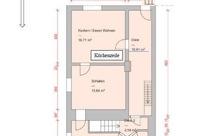 3 Zi. EG-Wohnung mit Gasheizung