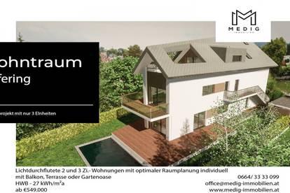 """Neubauprojekt mit 3 Wohneinheiten: leben im beliebten Stadtteil Liefering, dem """"Dorf in der Stadt"""" Gartenwohnung"""