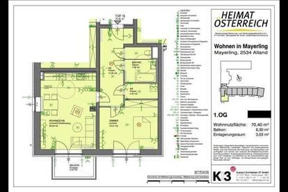 2 Zimmer Genossenschaftswohnung in Mayerling