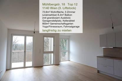 WIEN WEIDLINGAU  3-Zimmer ERSTBEZUG INKL. GARAGE ab Jänner 2021  Beste Stadtrandlage, top Infrastruktur, provisionsfrei, langfristig