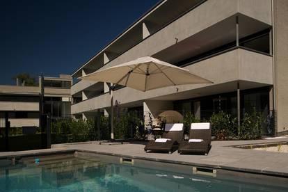 Relaxtes Wohnen 80 m² mit herrlichem Balkon, Dachterrasse, Schwimmteich