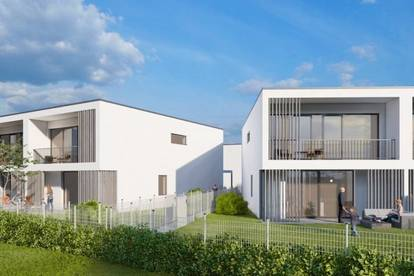 B.E. GREEN Bad Erlach. Frei finanziertes Doppelhaus mit Garten.