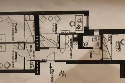 Neu renovierte 4 Zimmer Wohnung in zentraler Lage (Uni/Klinik) ab ca Mitte März zu vermieten, an 4er WG