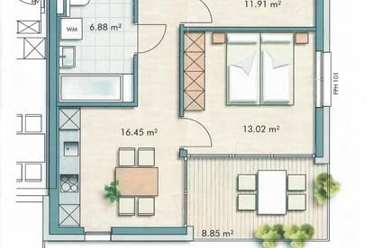 3 Zimmer Wohnung mit Loggia_inklusive 1 Garagenstellplatz_Provisionsfrei