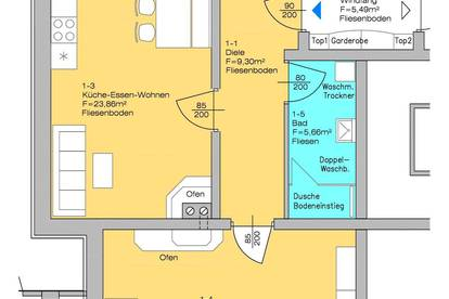 Hochwertige schöne 2-Zimmerwohnung mit 65m² Wohnnutzfläche