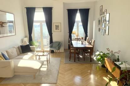 PROVISIONSFREI - sanierter Altbau mit 2 Balkonen und Fernblick - 2 min zu Prater / WU / U-Bahn