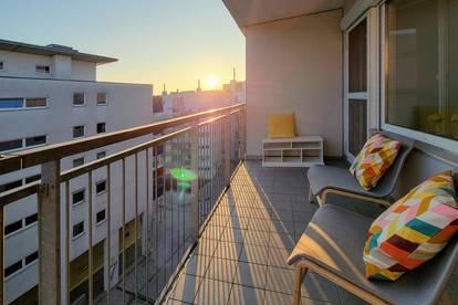 Großzügige Wohlfühlwohnung mit Weitblick, Südloggia, Dachterrasse  und Tiefgaragenplatz