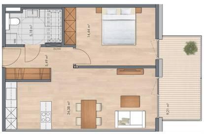 Moderne Neubauwohnung in Kirchdorf in Tirol zu vermieten