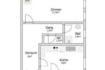 TOP LAGE / Ruhige, gemütliche, 2-Zimmerwohnung mit Gartenzugang / Erstbezug nach Sanierung!