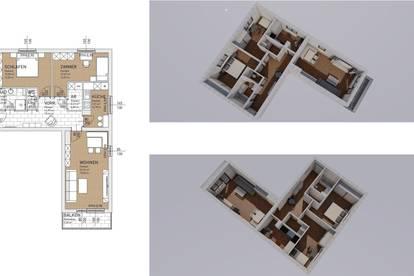 Thalgau, sonnige, gemütliche 3 Zi. - Wohnung mit Balkon