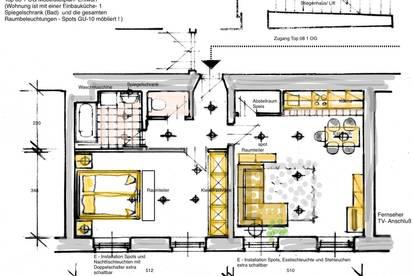 """Wohnen im Jugendstilhaus"""" (Provisionsfrei - unbefristet) Attraktive lichtdurchflutete neu sanierte Altbauwohnung 55,7m2 im 1 OG mit Lift im historischem Jugendstilhaus"""
