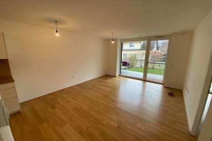 Sonnige 2 Zimmer Wohnung mit Garten und Tiefgaragenstellplatz in Ruhelage Taxham zu vermieten