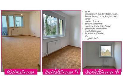 Generalsanierte 68 m2 Wohnung in Top-Lage in Baden
