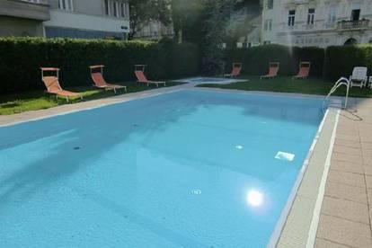 Privat: 2-Zimmer Wohnung mit Garten und Pool in Top Lage
