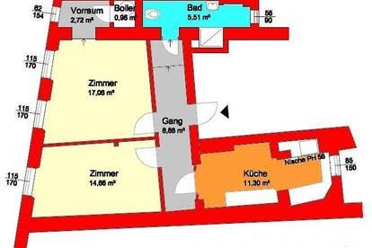 2-Zimmer-Stadtwohnung in Fußgängerzone