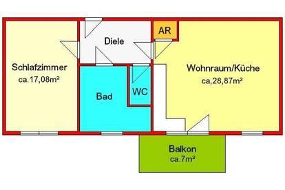 möblierte 2-Zimmer-Neubauwohnung mit großem Balkon und Autostellplatz - zentral in Semriach