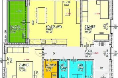 Erstbezug: 3-Zimmer-Neubauwohnung mit großem Balkon in Graz-Ragnitz