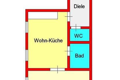 zentrale 2-Zimmer-Altbauwohnung bei alter Technik - Alberstraße
