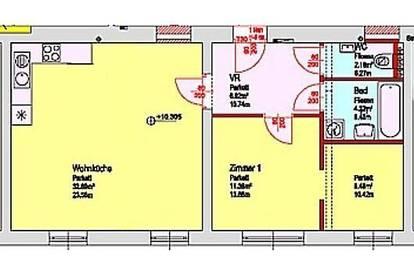 Provisionsfrei : Großzügige 2-Zimmerwohnung in Ruhelage Lend