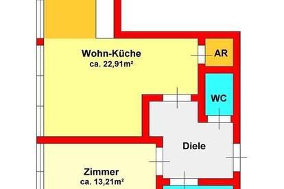 2-Zimmer-Dachgeschoßwohnung direkt bei UNI