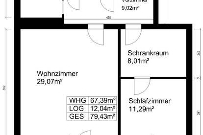 Traiskirchen Wienersdorf, 67m² 2-Zimmer-Wohnung, provisionsfrei